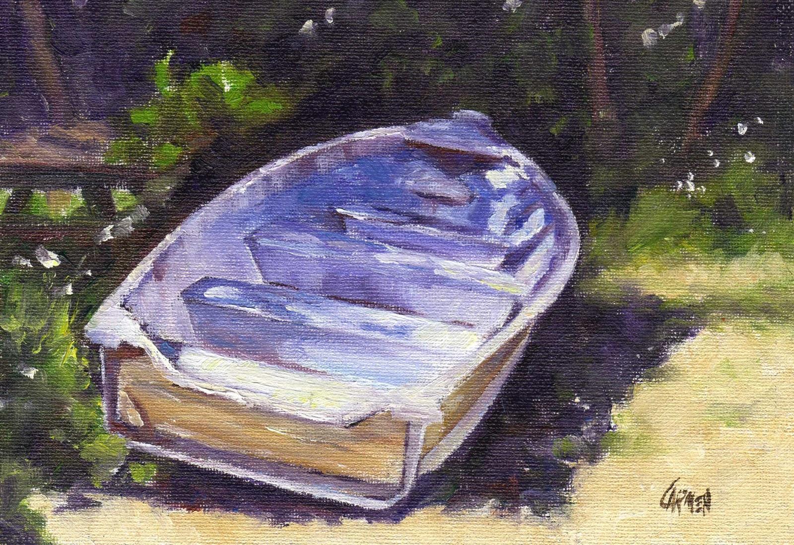 """""""Dry Dock, 5x7 Oil on Canvas"""" original fine art by Carmen Beecher"""