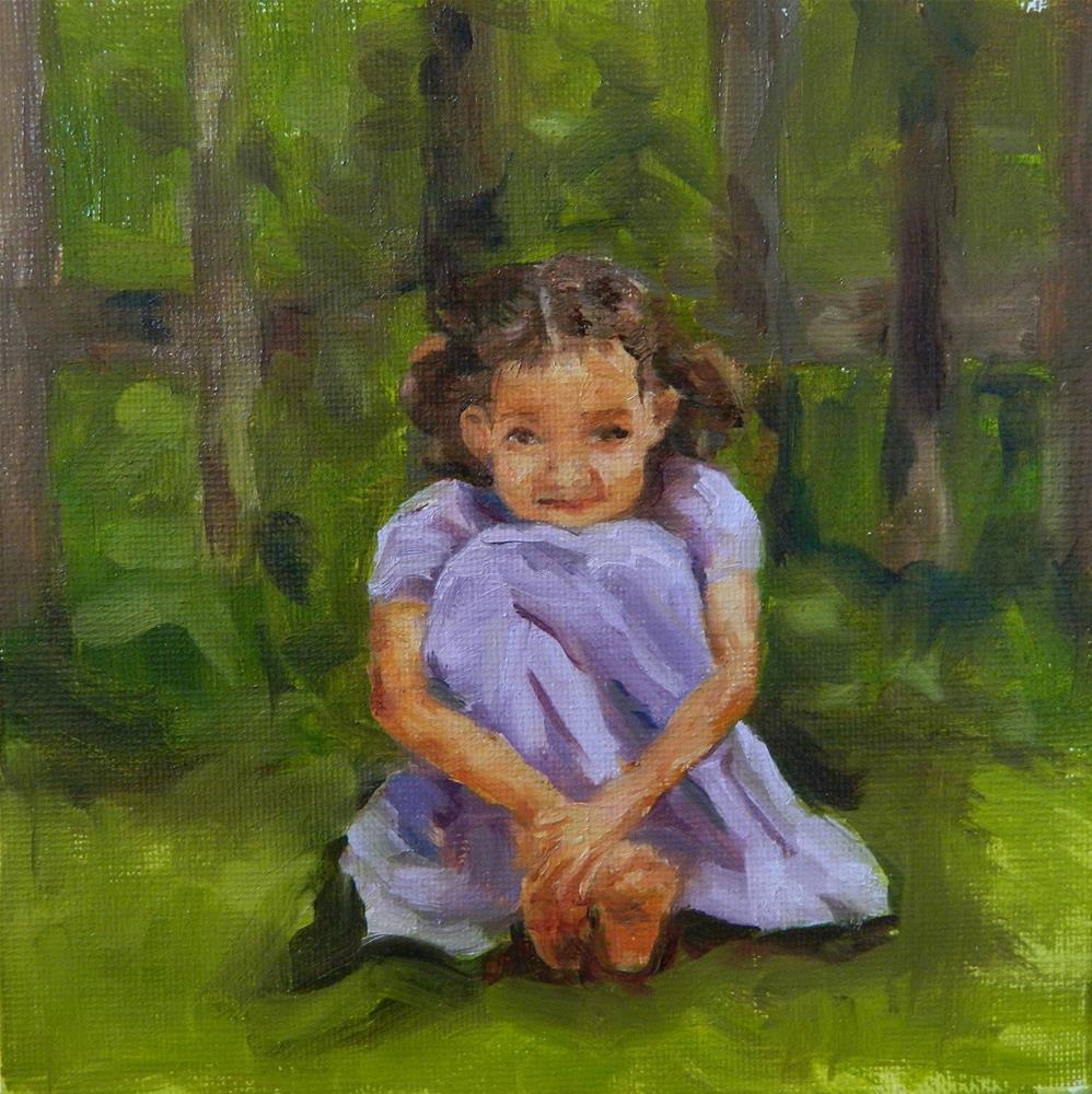 """""""Shy Side"""" original fine art by Debra Shore"""