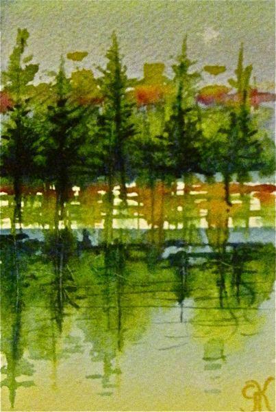Warm December North Star original fine art by Gretchen Kelly
