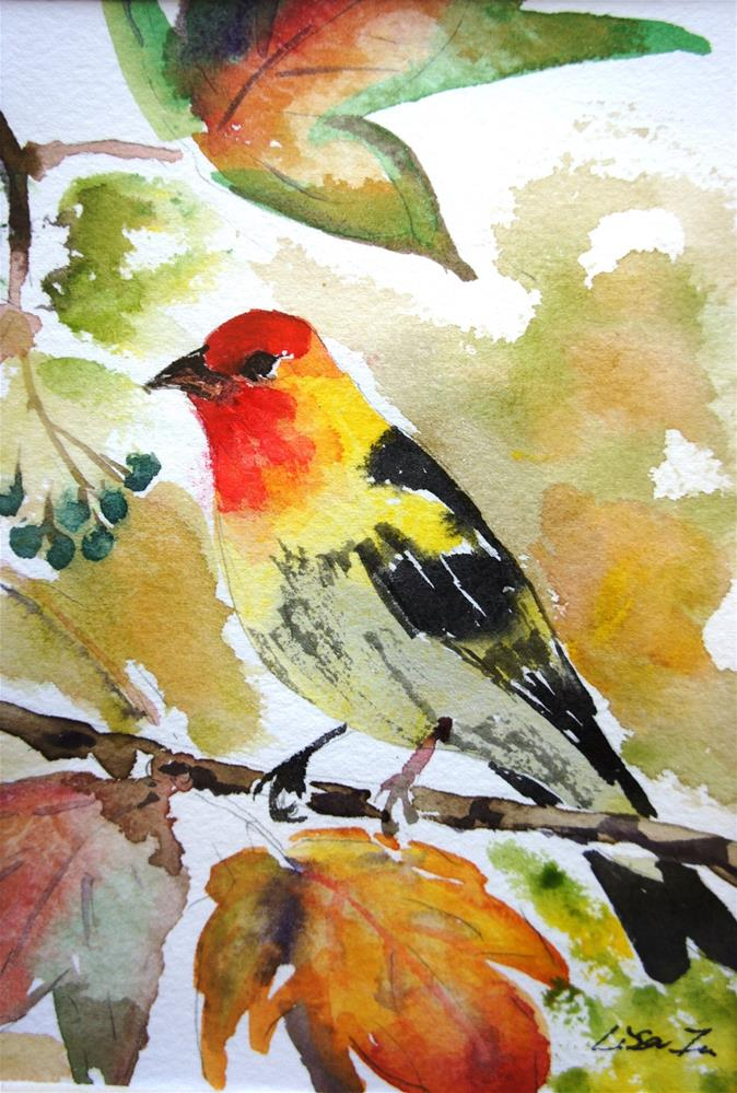 """Song bird"" original fine art by Lisa Fu"