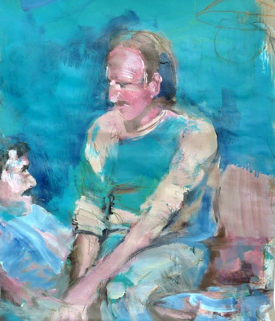 """Gespräche / conversations"" original fine art by Mila Plaickner"