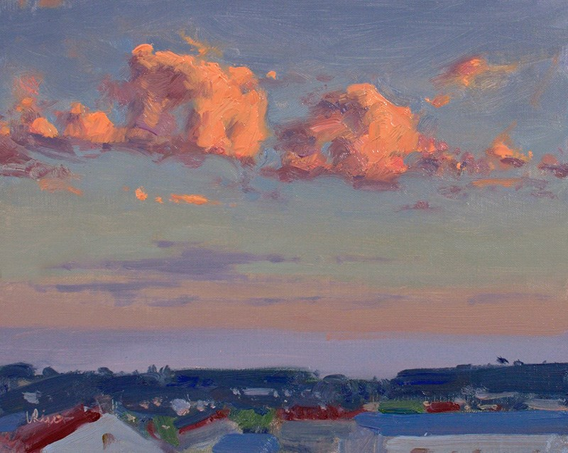 """Warm September Evening"" original fine art by Lena  Rivo"