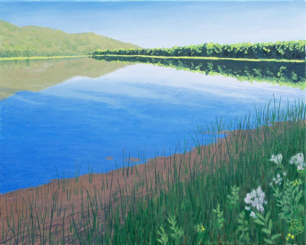"""School Lake"" original fine art by Greg Arens"