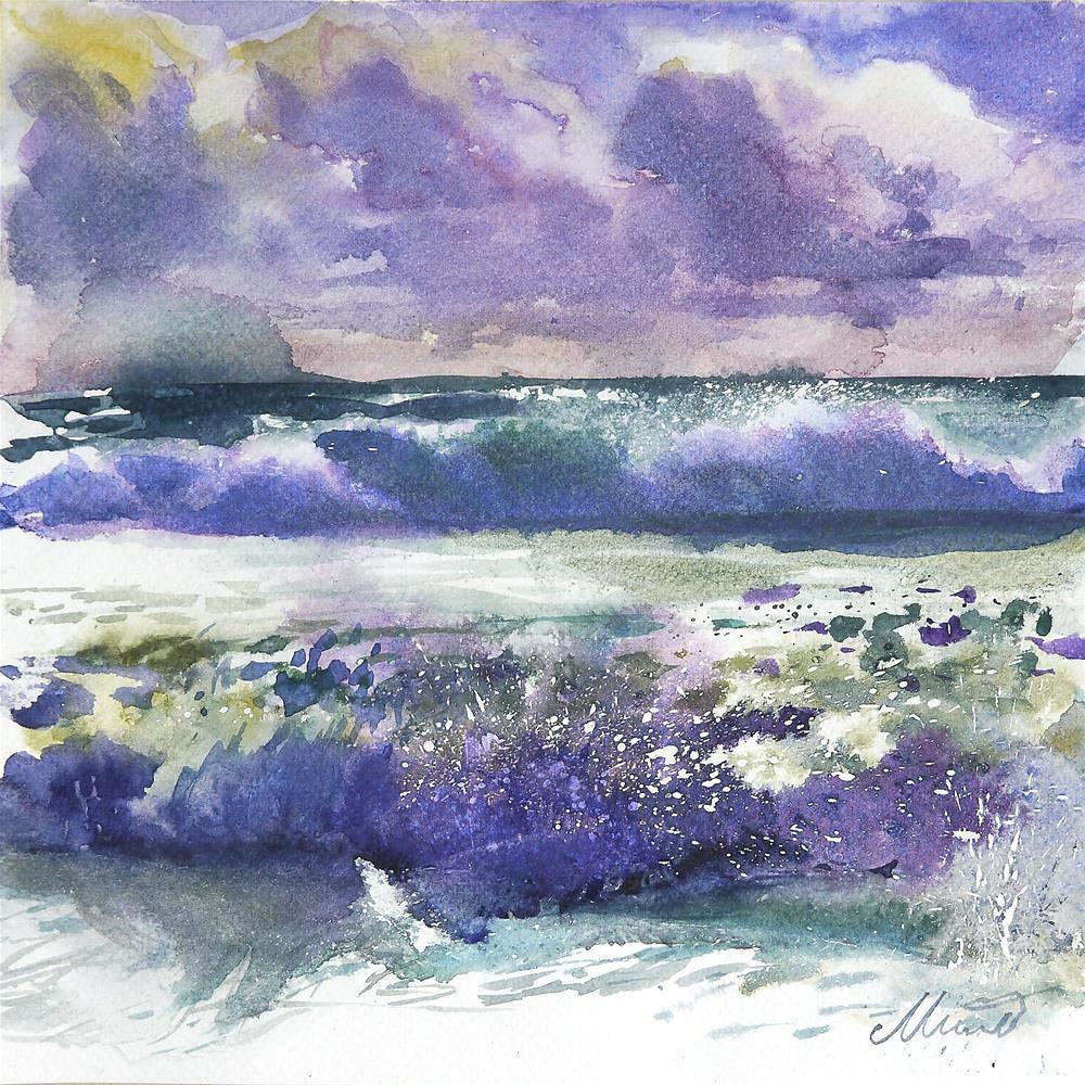 """wave_1"" original fine art by Beata Musial-Tomaszewska"
