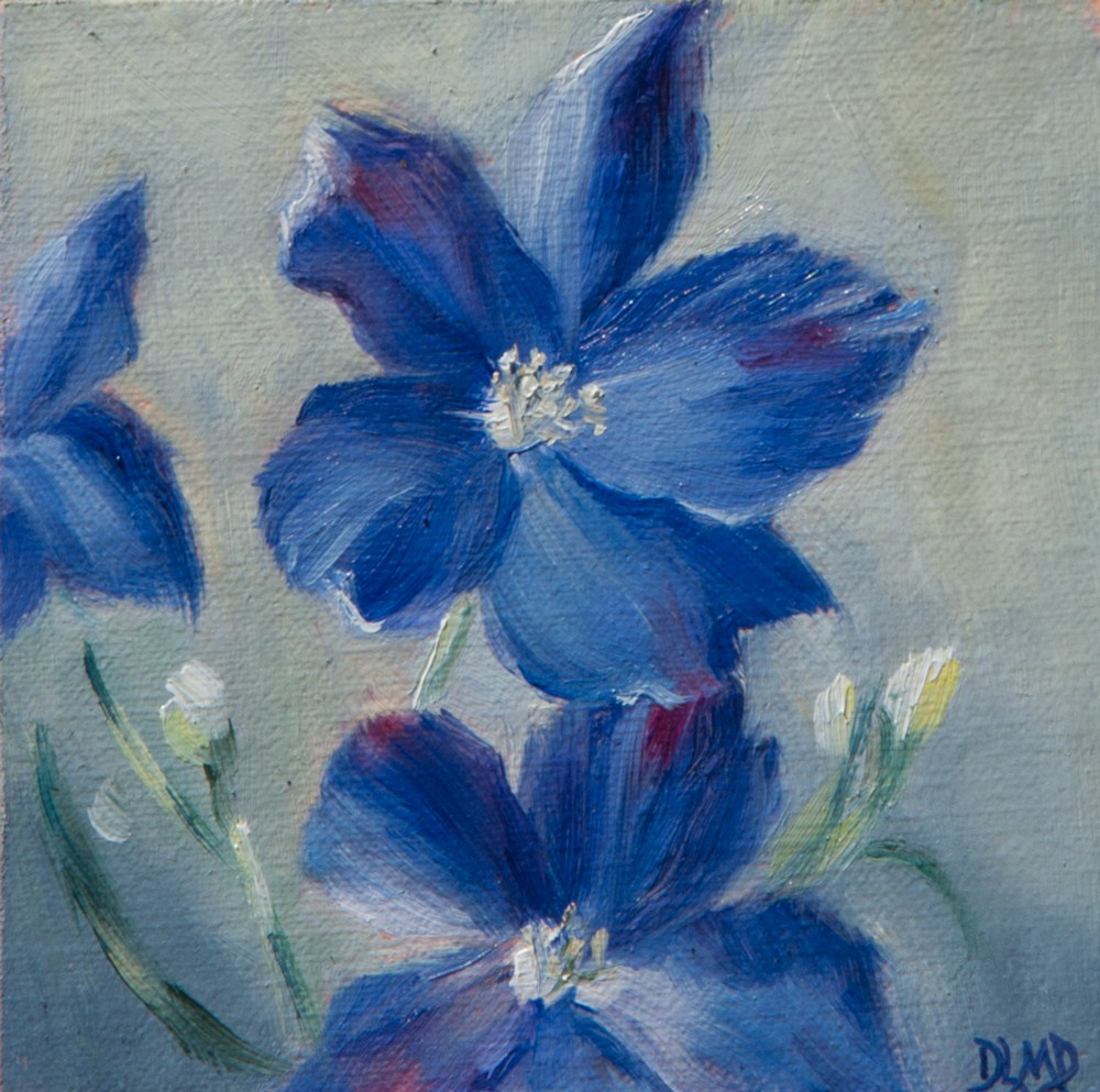 """Blue Beauties"" original fine art by Debbie Lamey-Macdonald"