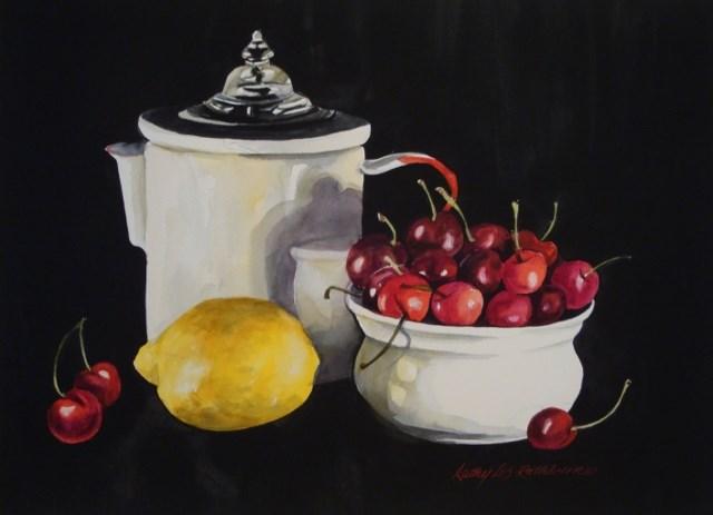 """Cherry Lemonade"" original fine art by Kathy Los-Rathburn"