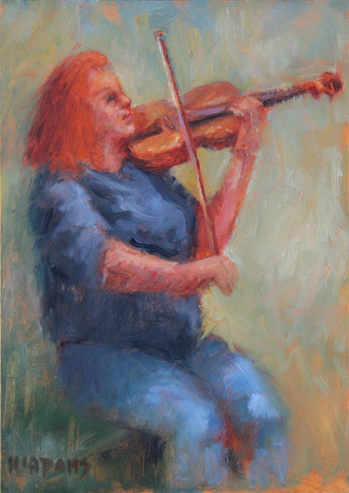 """Violin Player"" original fine art by Phyllis McAdams"