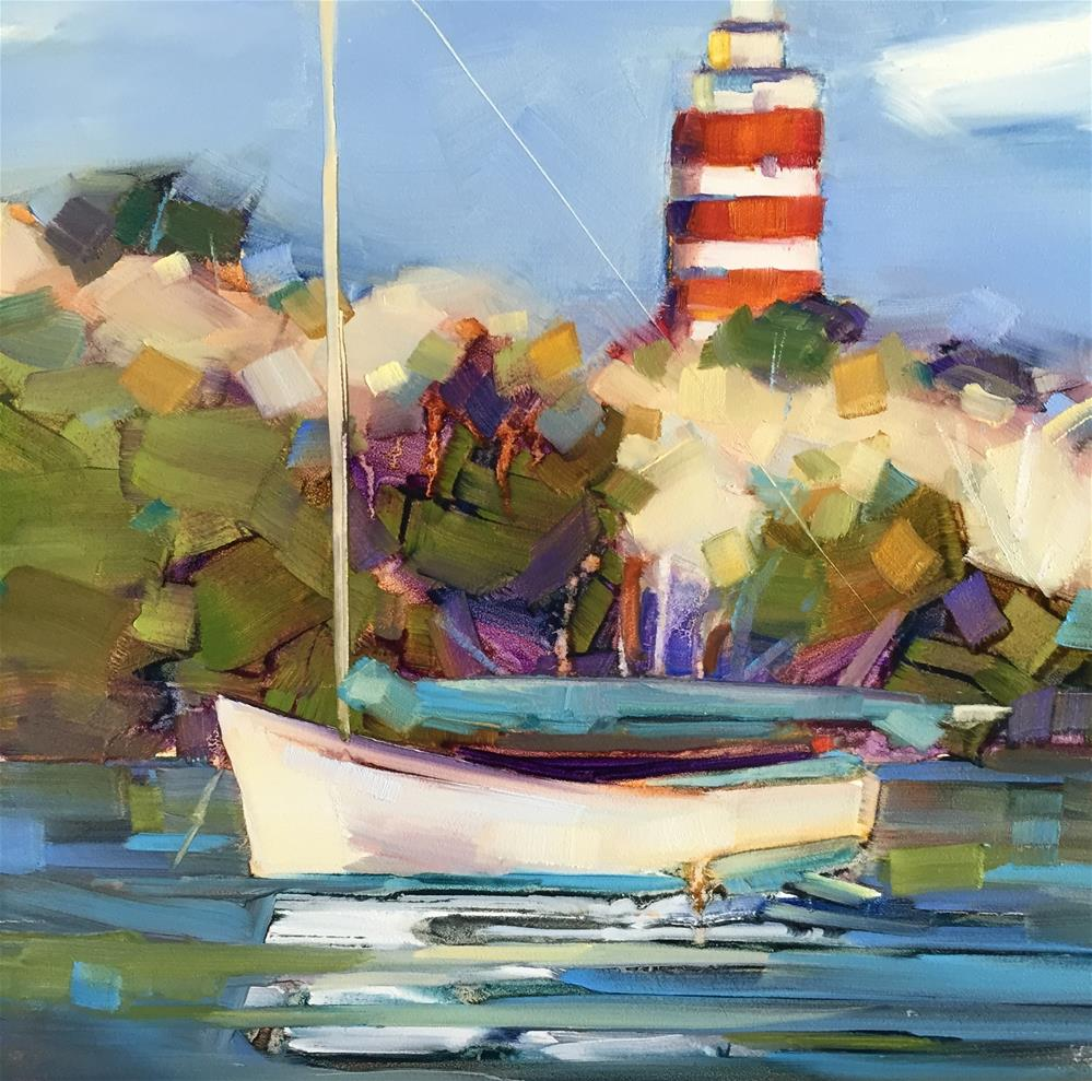 """Hope Town Harbour"" original fine art by Kathleen Broaderick"