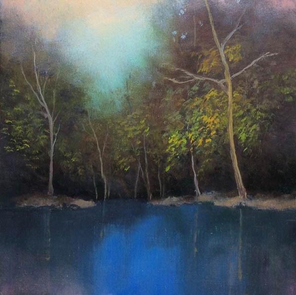 """""""QUIET POND"""" original fine art by Gerald Schwartz"""