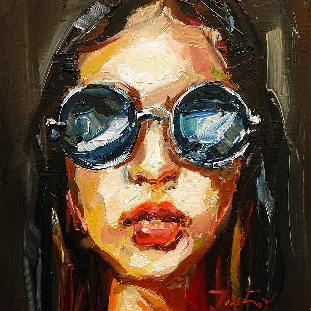 """Sonnenbrille"" original fine art by Jurij Frey"