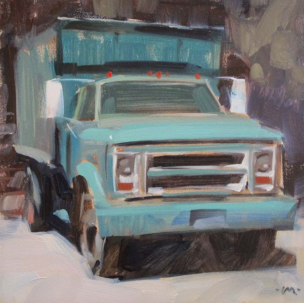 """Work Truck"" original fine art by Carol Marine"