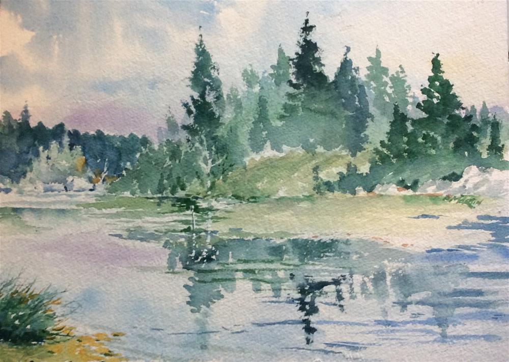 """reflections on the lake"" original fine art by paul martin"