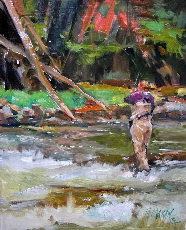 """Pocket Water"" original fine art by Mary Maxam"