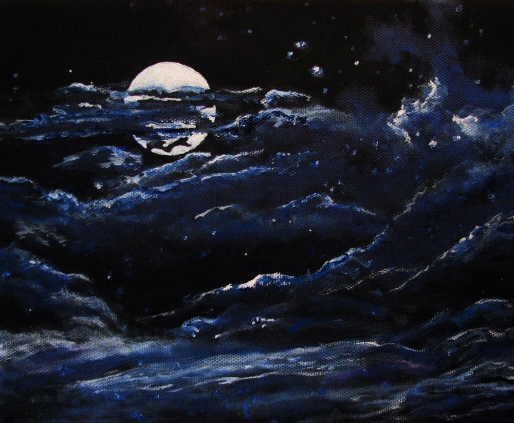 """Intangible Night"" original fine art by Nan Johnson"