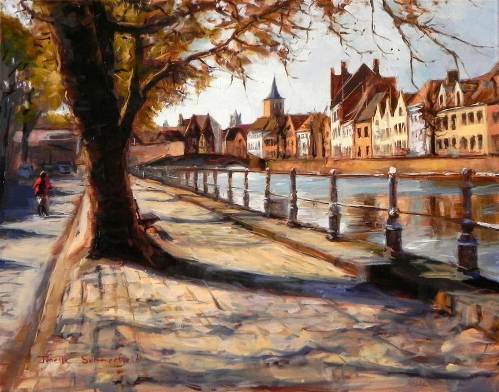 """View of Bruges"" original fine art by Jonelle Summerfield"