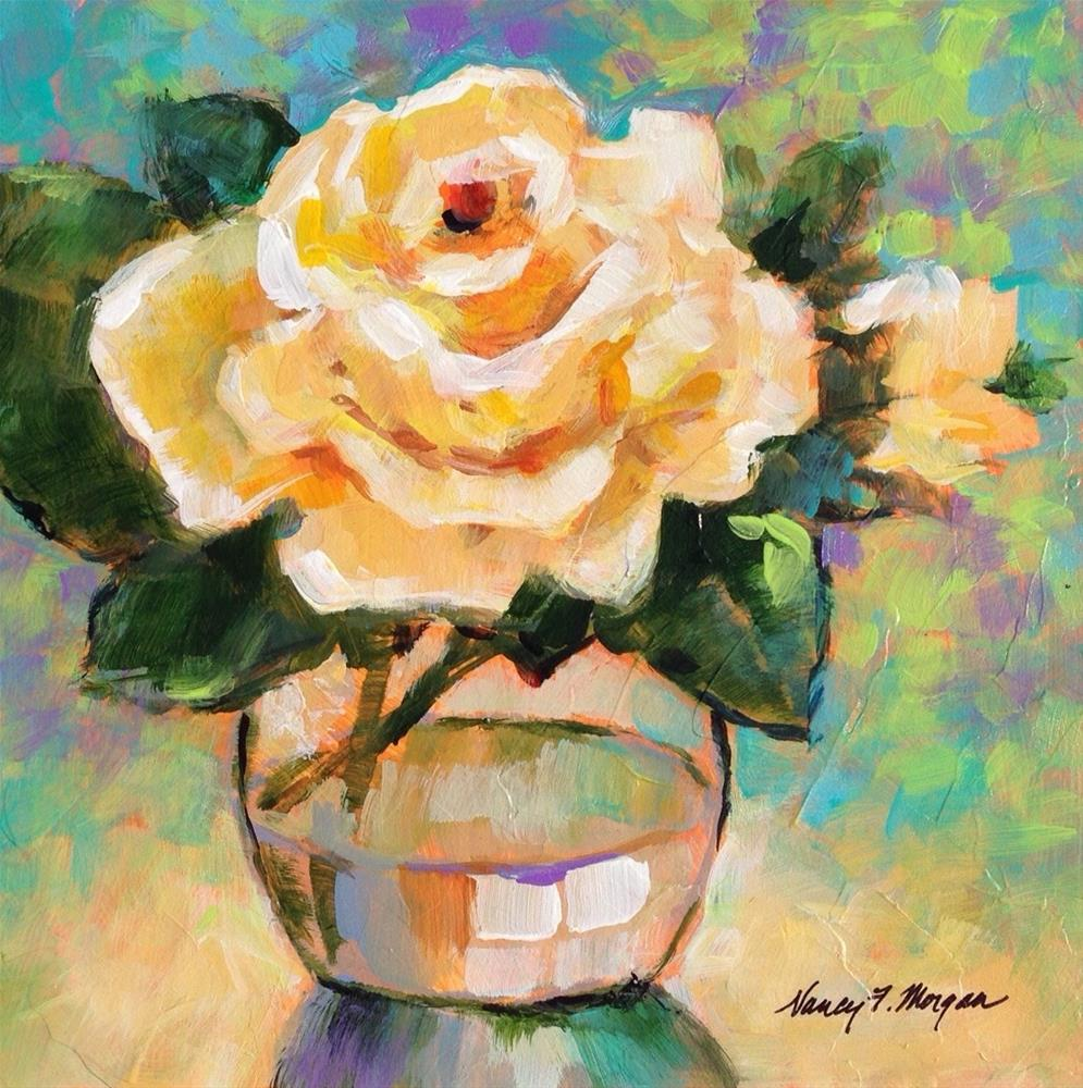 """Easter Rose"" original fine art by Nancy F. Morgan"