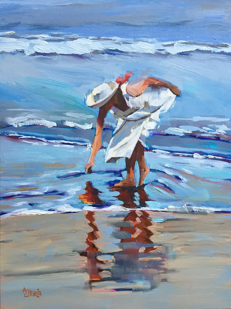 """Shell Searcher"" original fine art by Andrea Jeris"