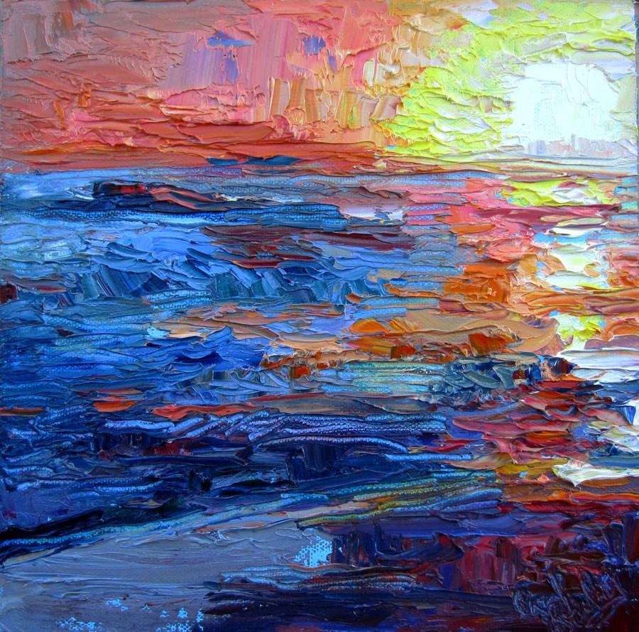 """""""Laguna Sunset 1"""" original fine art by Carol Steinberg"""