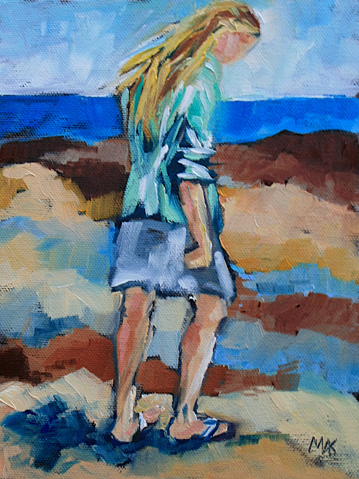 """Billie"" original fine art by Mary Anne Cary"
