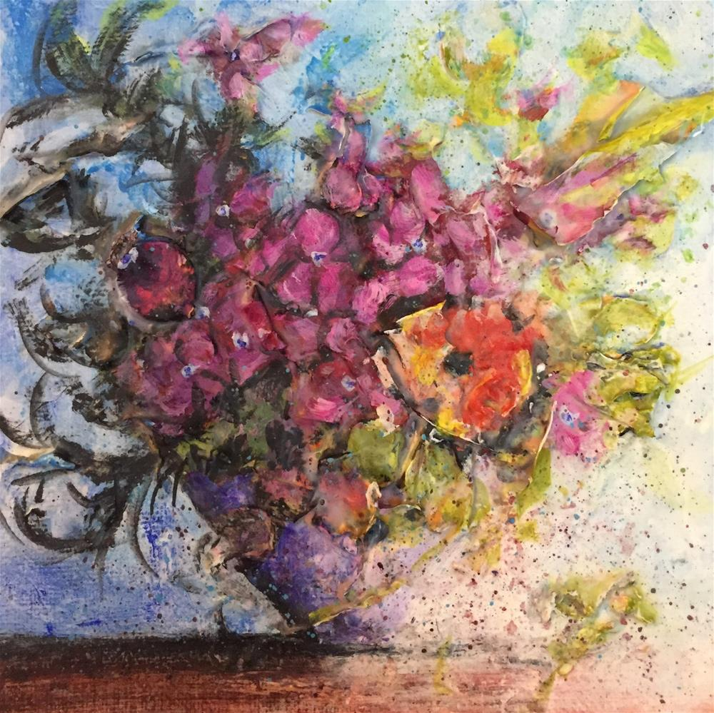 """Loose Floral"" original fine art by Debbie Yacenda"