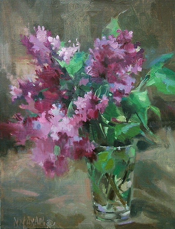 """First Pick Lilacs"" original fine art by Mary Maxam"