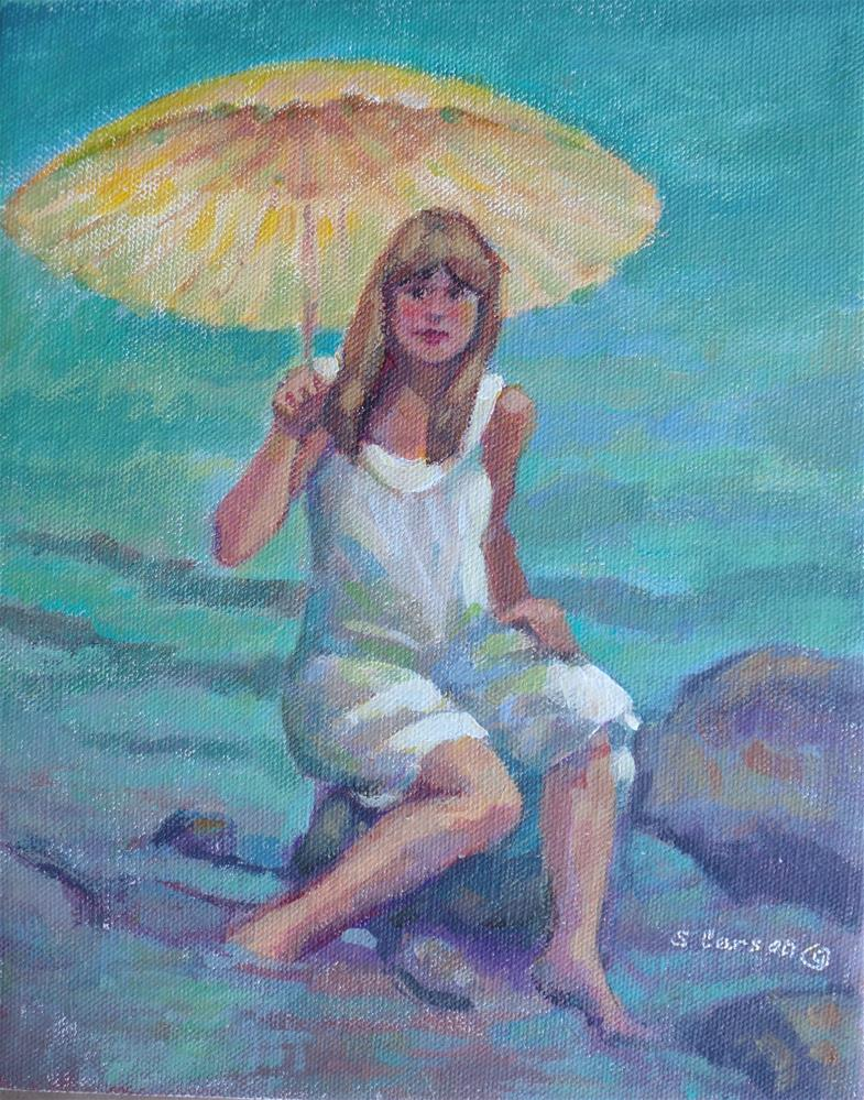 """Something about Umbrellas"" original fine art by Suzanne Carson"