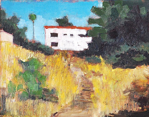 """Vacant Lot on Florida Avenue, San Diego"" original fine art by Kevin Inman"
