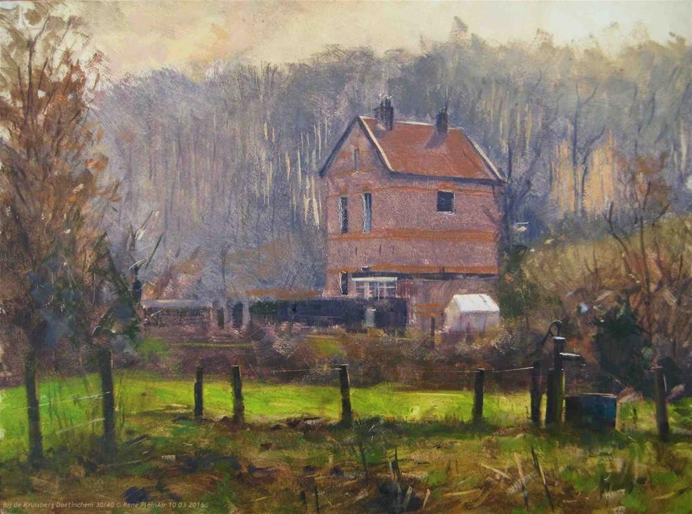 """Bij de Kruisberg. Doetinchem, The Netherlands."" original fine art by René PleinAir"