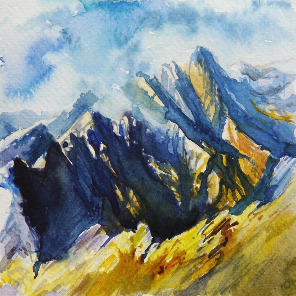 """cloudy peaks"" original fine art by Beata Musial-Tomaszewska"