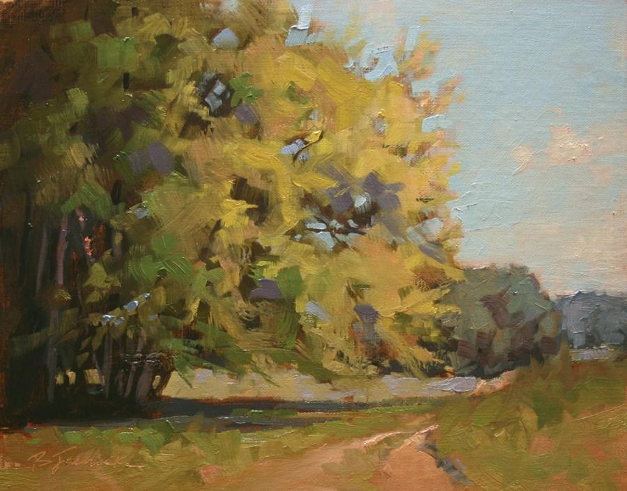 """Shady Spot"" original fine art by Barbara Jaenicke"