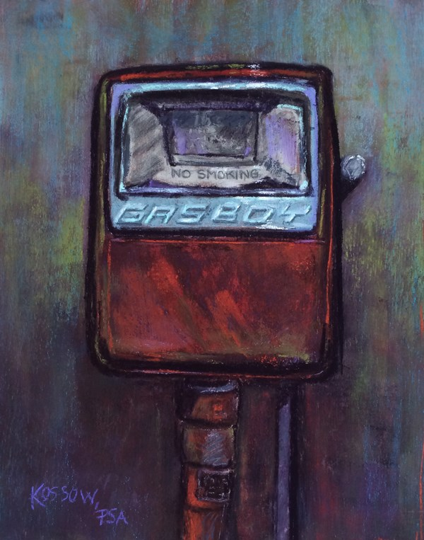 """""""Gasboy"""" original fine art by Cristine Kossow"""