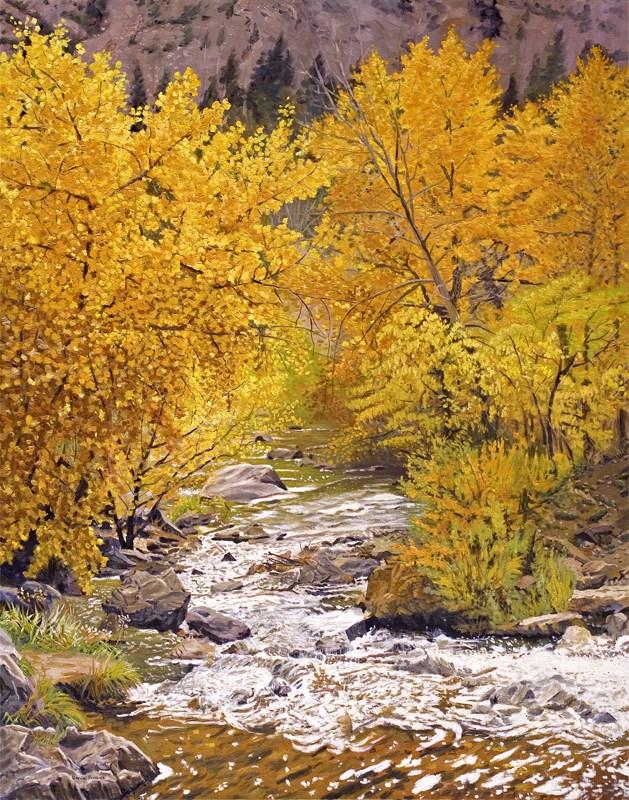 """Fall on Bear Creek Colorado"" original fine art by Daniel Fishback"