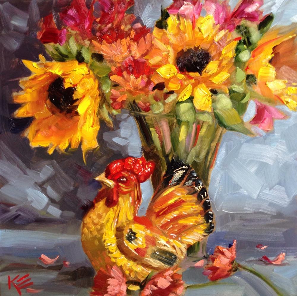 """Fall Bouquet"" original fine art by Krista Eaton"