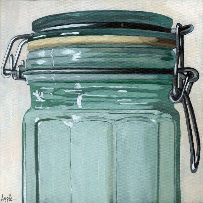 """Glass Jar - still life"" original fine art by Linda Apple"