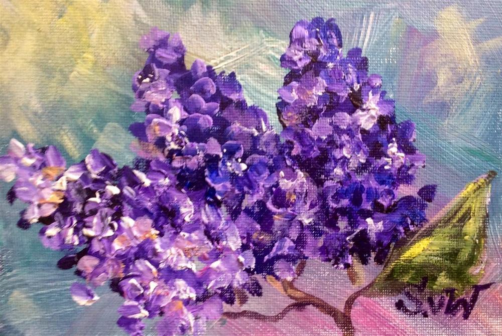 """Lilacs"" original fine art by Sonia von Walter"