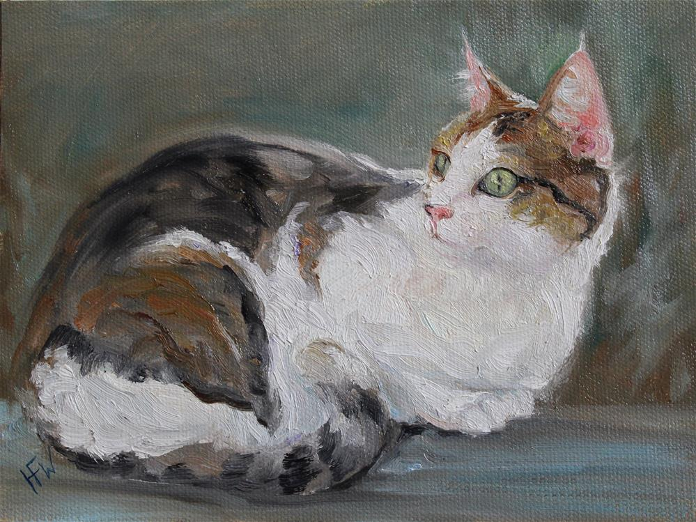 """Calico"" original fine art by H.F. Wallen"