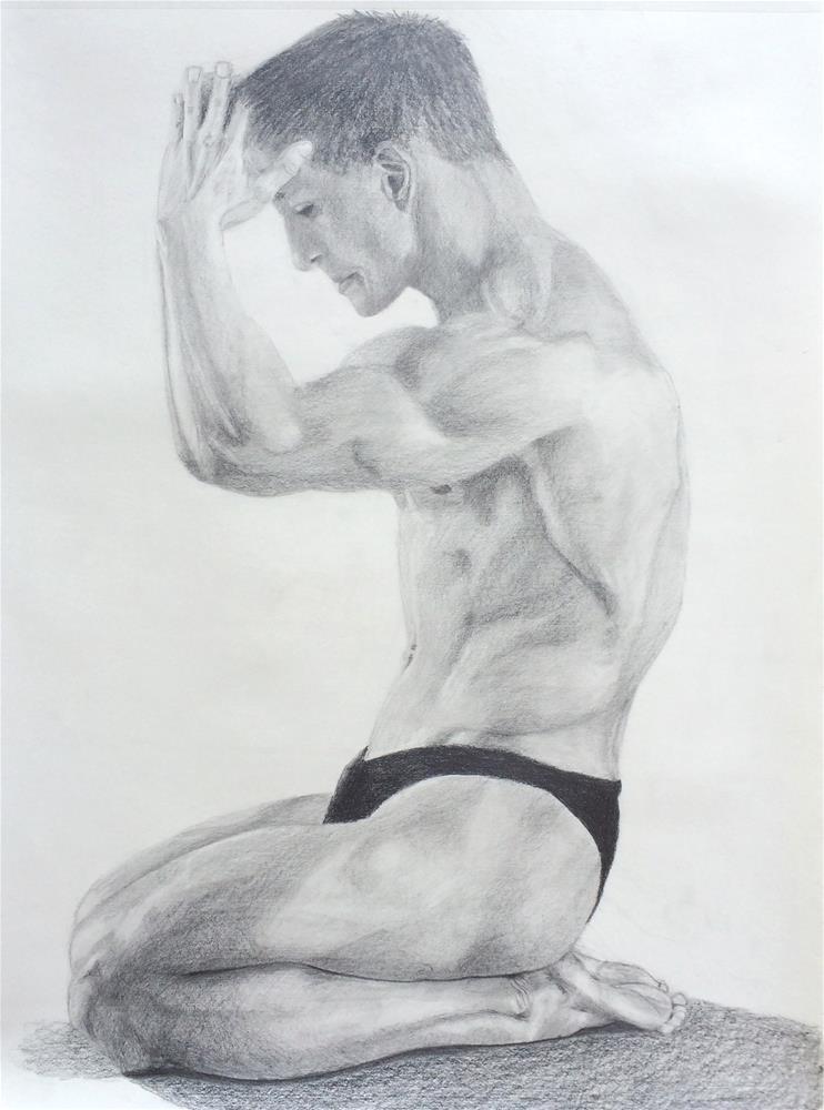 """Mr. Muscles"" original fine art by Nina Brodsky"