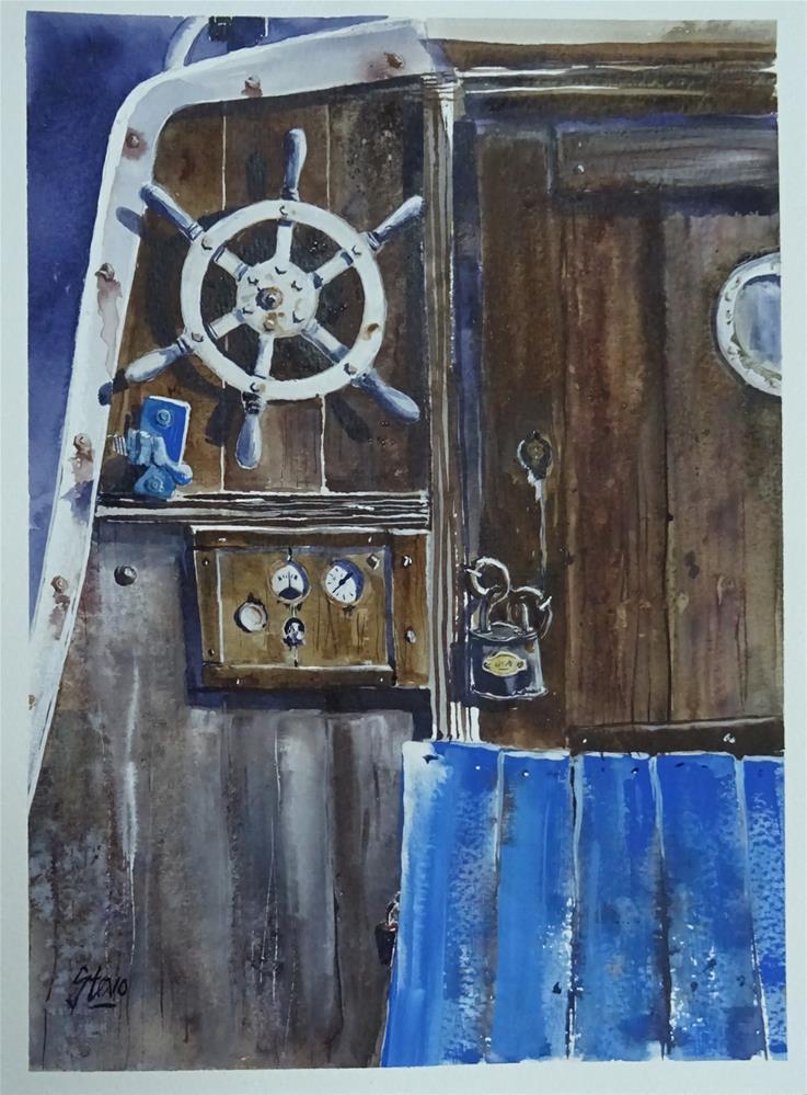 """The Ships Wheel"" original fine art by Martin Stephenson"