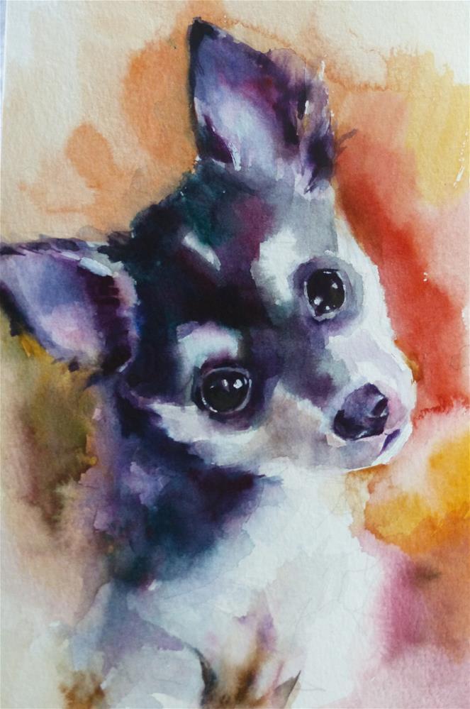 """adopt177 - Izzy"" original fine art by Katya Minkina"