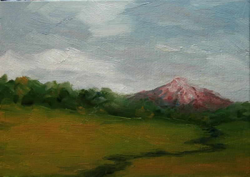 """""""Alpine Glow on the Mountain"""" original fine art by Jean Nelson"""