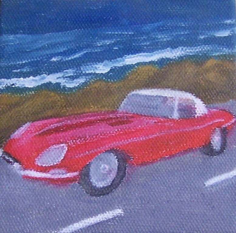 """63 jaguar"" original fine art by John Marcum"