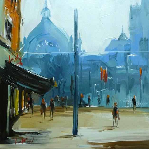 """""""Stadtplatz"""" original fine art by Jurij Frey"""