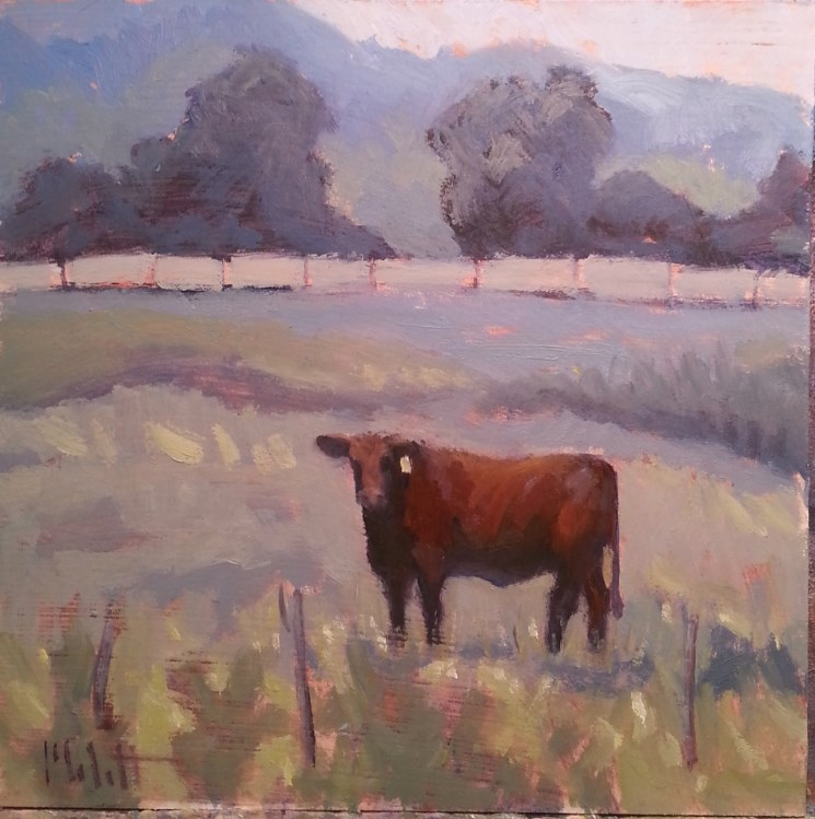 """Red Bull Painting"" original fine art by Heidi Malott"