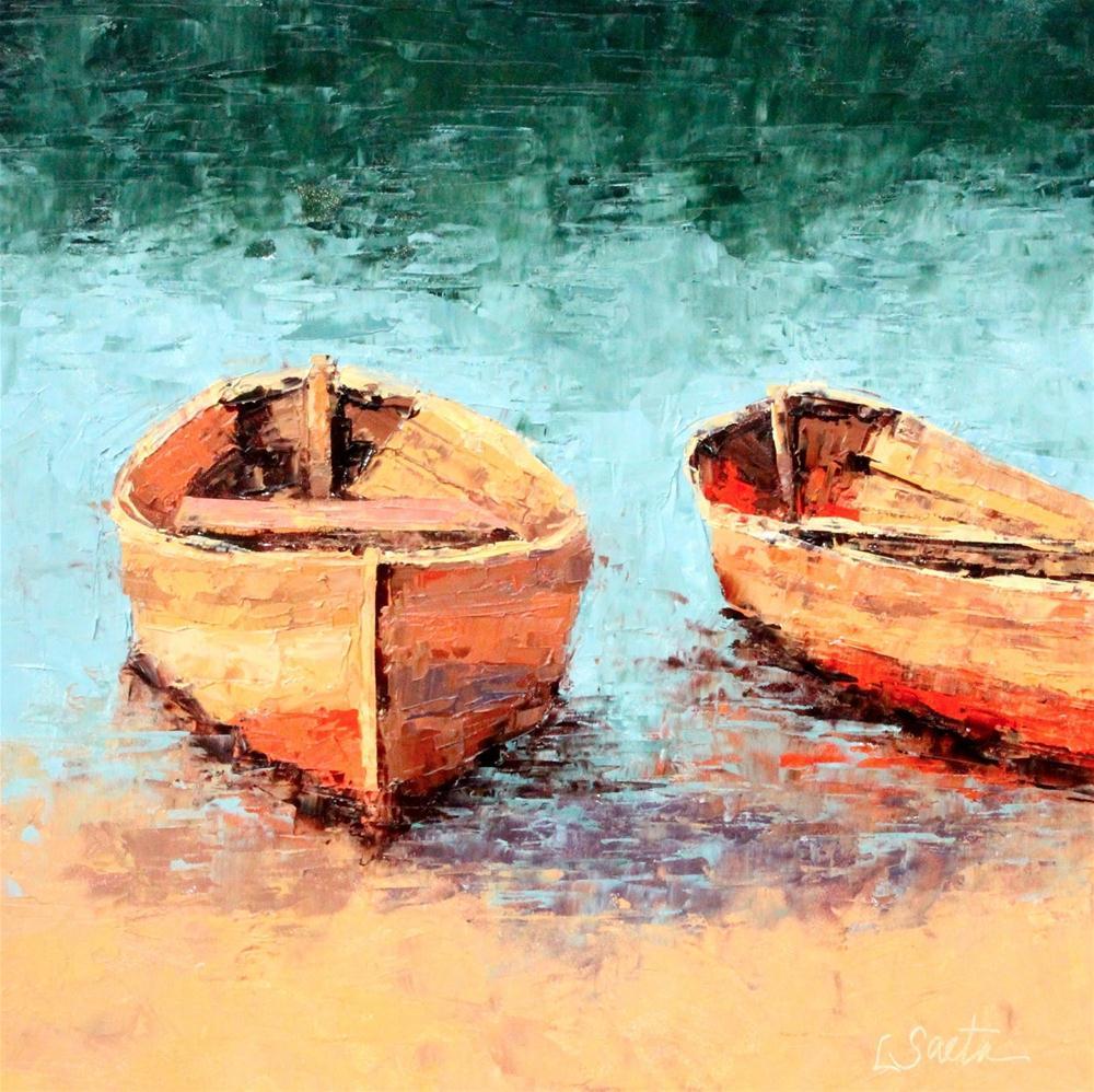 """On the Shore"" original fine art by Leslie Saeta"