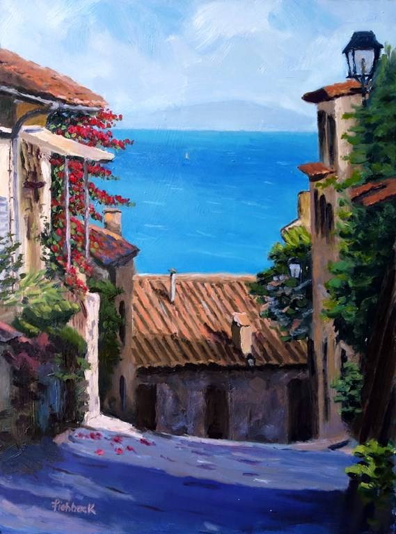 """Tuscany View"" original fine art by Daniel Fishback"