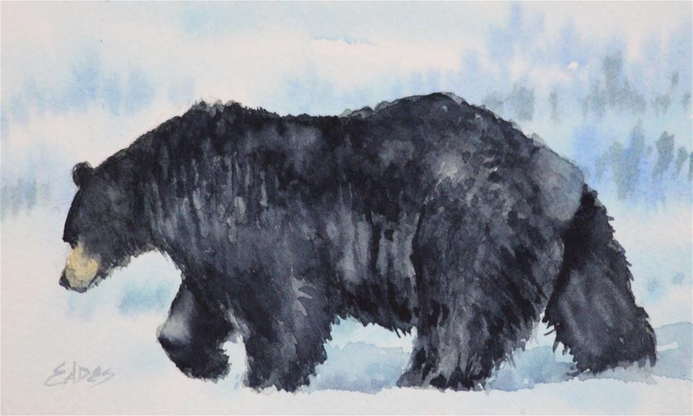 """Walking Bear"" original fine art by Linda Eades Blackburn"
