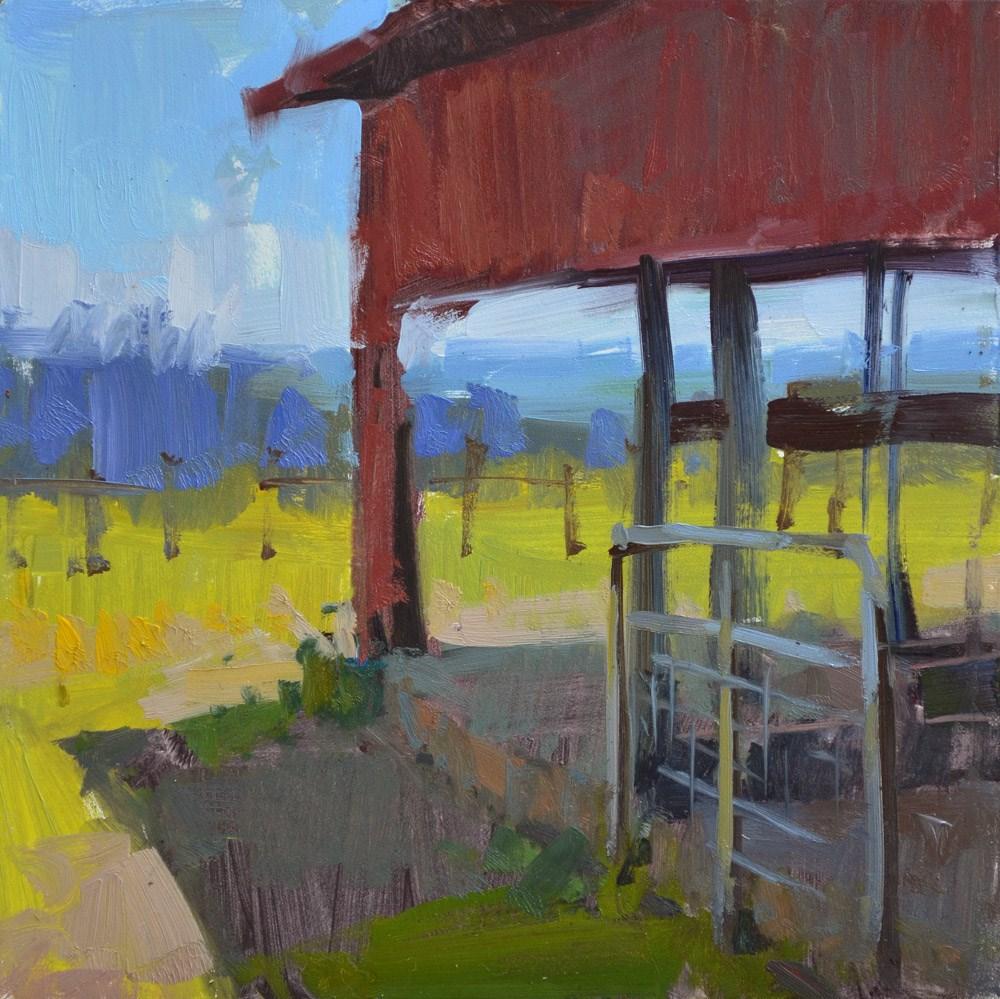 """""""Through the Barn"""" original fine art by Carol Marine"""