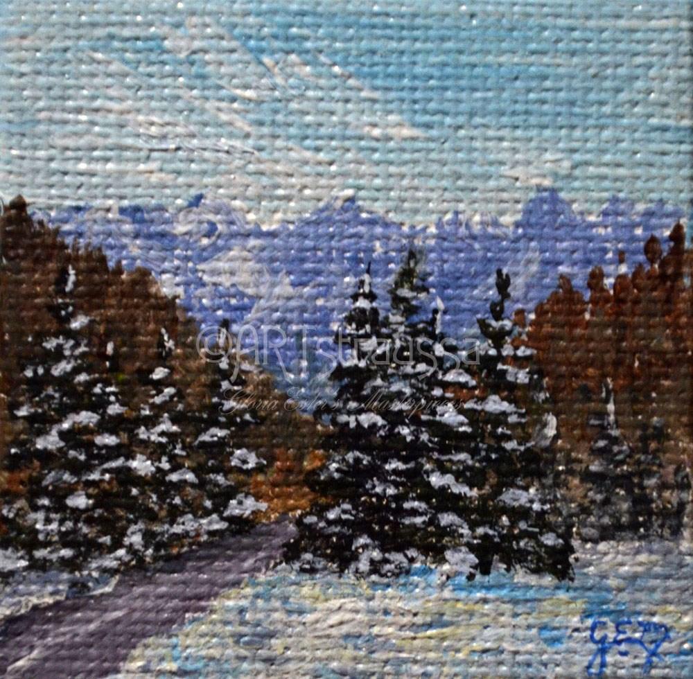 """Road Through Julian Alps"" original fine art by Gloria Ester"