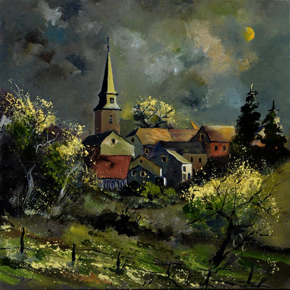 """Village Ardenne"" original fine art by Pol Ledent"