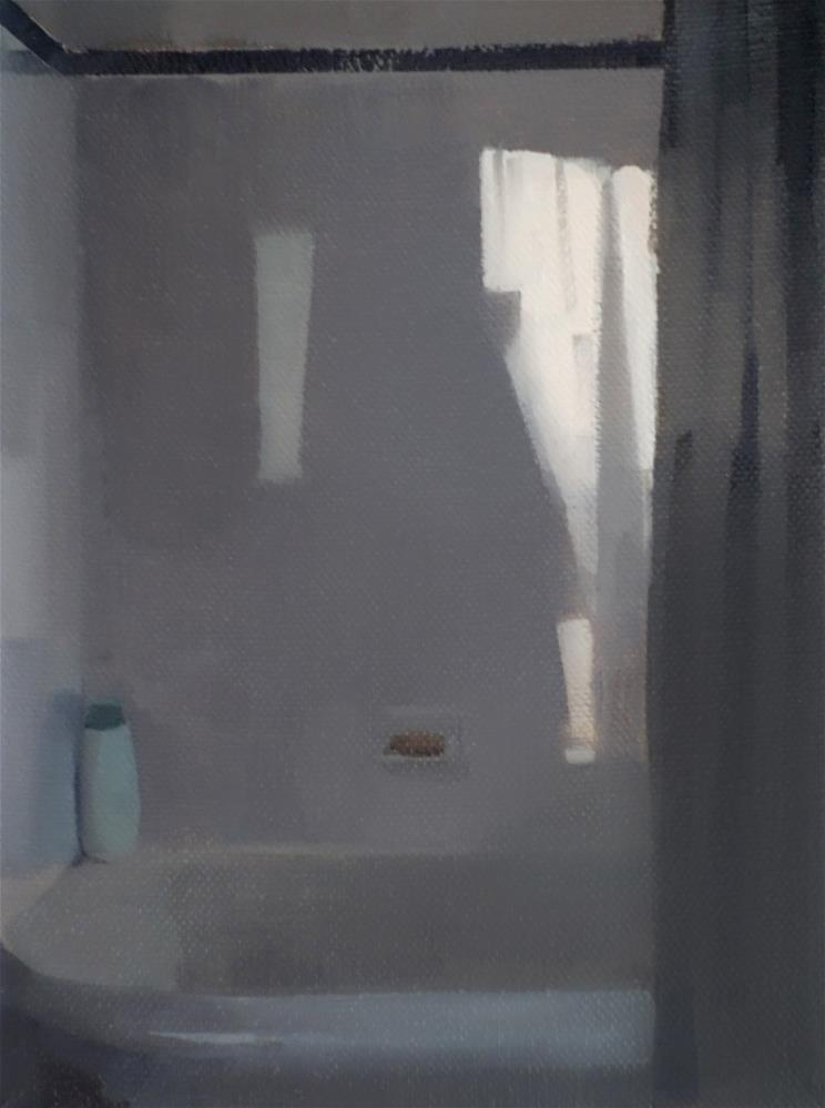 """Daylight on Shower Wall (no.122)"" original fine art by Michael William"